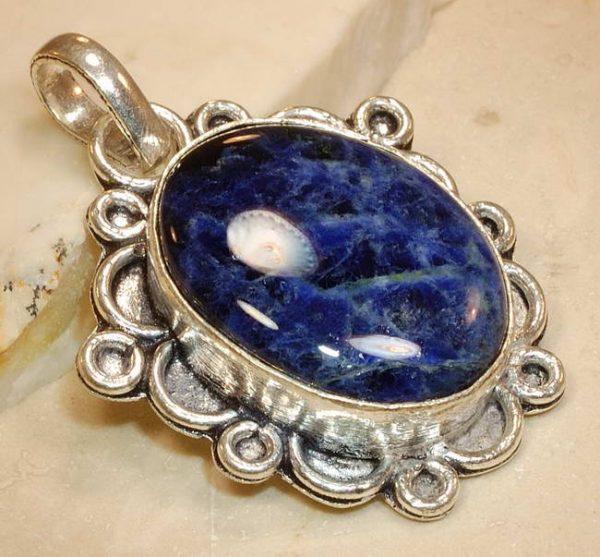 Sodalite Sterling Silver Pendant