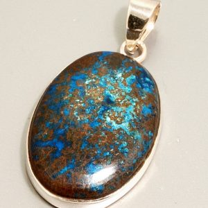 Azurite and .925 Sterling Silver Pendant