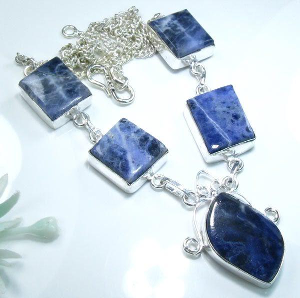 Sodalite & Silver Necklace