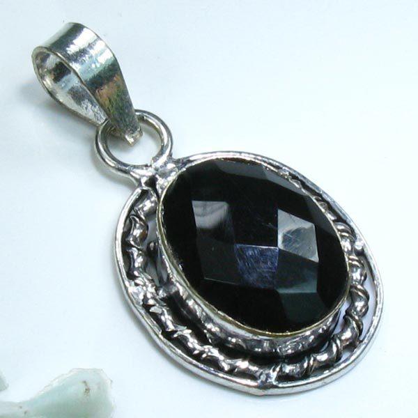 Garnet & Sterling Silver Pendant