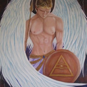 Original Art - Archangel Michael - Acrylic Painting