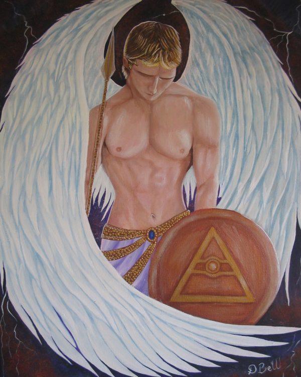 Original Art - Archangel Michael - Acrylic Painting