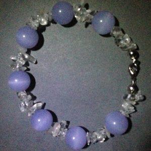Amethyst & Clear Quartz Bracelet