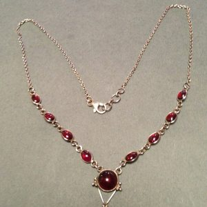 Garnet 925 Sterling Silver Necklace