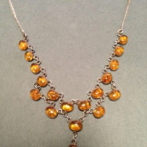 Amber 925 Sterling Silver Necklace