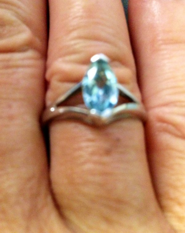Blue Topaz .925 Stering Silver Ring