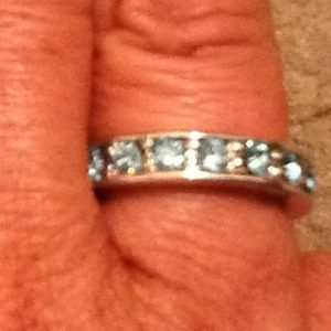 Sapphire Silver Size 9 Ring
