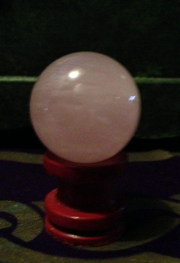 Rose Quartz Crystal Sphere Ball