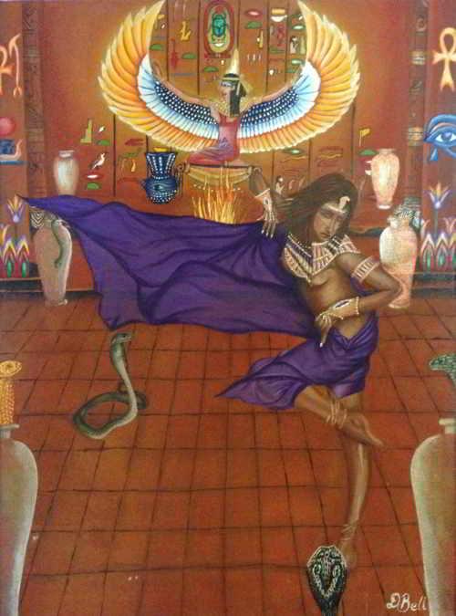 Original Art - Snake Dance Temple Ritual - Acrylic Painting