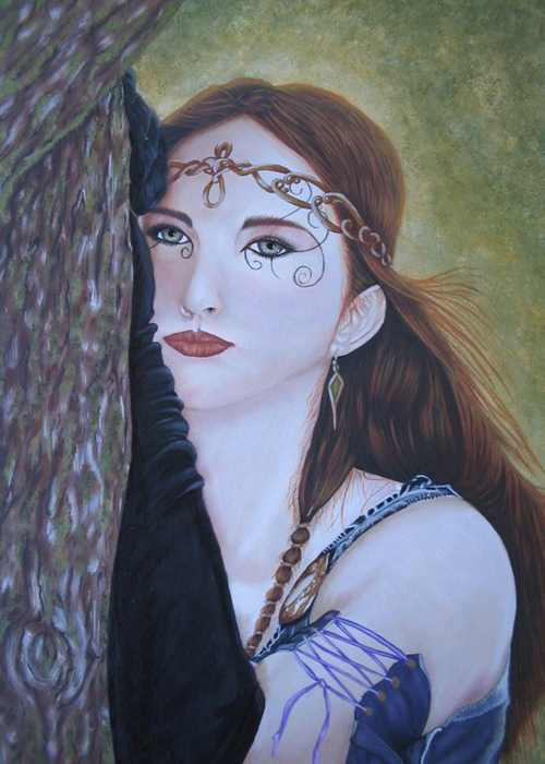 Original Art - Faerie of the Glen - Acrylic painting