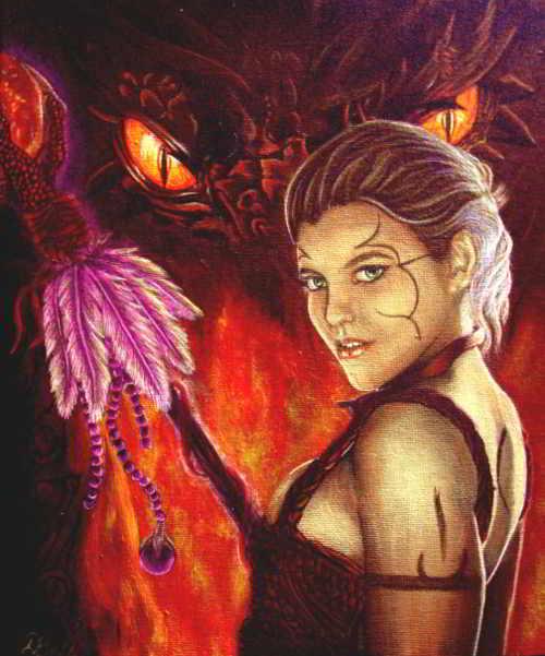 Art Print - The Dragon Tamer's Pact - Fire