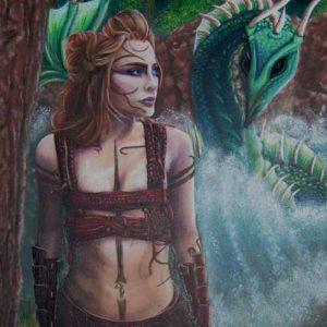 Art Print - The Dragon Tamer's Pact - Water