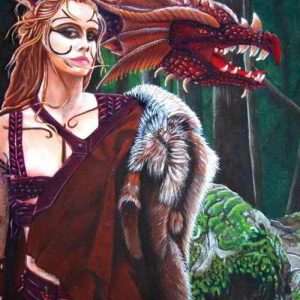 Art Print - The Dragon Tamer's Pact - Earth