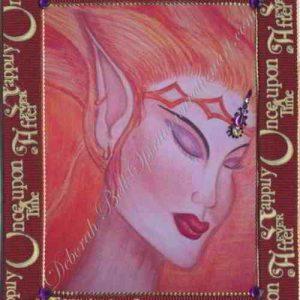 Burgundy Fire Nymph Handmade Card