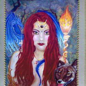 Sorceress of Wisdom Handmade Card