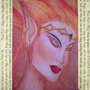 Pink & Cream Fire Nymph Handmade Card