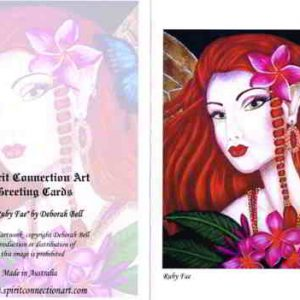 Ruby Fae Greeting Card (Blank)
