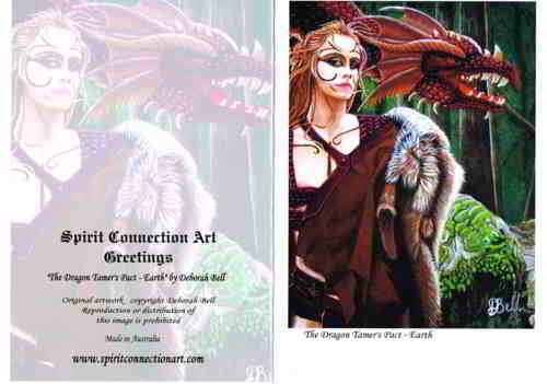 The Dragon Tamer's Pact - Earth Greeting Card (Blank)