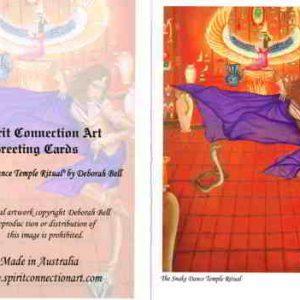 Snake Dance Temple Ritual Greeting Card (Blank)