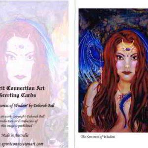 Sorceress of Wisdom Greeting Card (Blank)