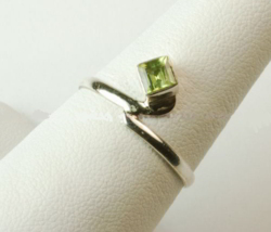 Peridot Sterling Silver Ring - size 8