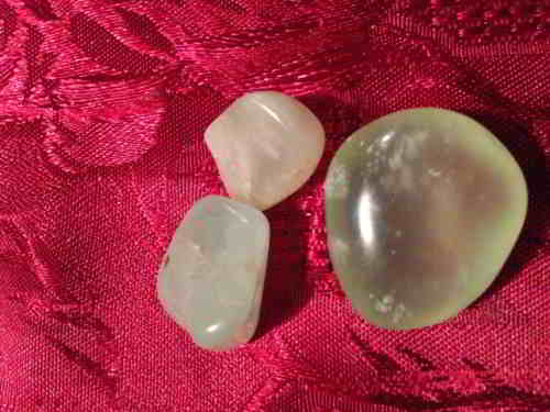 New Jade Crystal Tumbled Stone